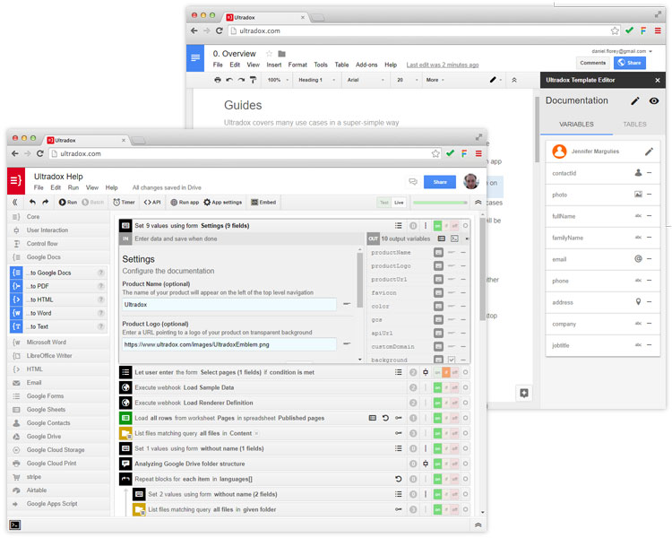 ultradox, Invoice templates