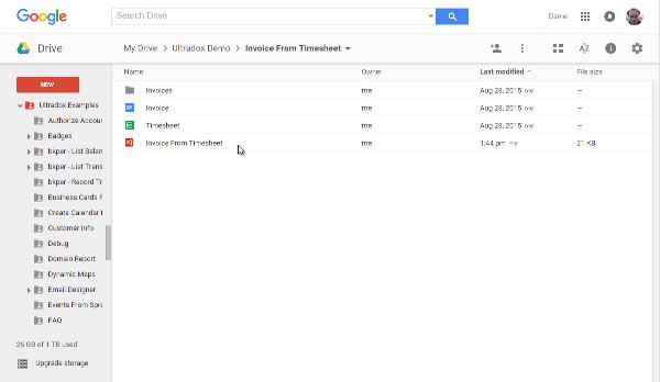 google doc timesheet